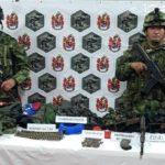 Ejército Nacional halló depósito ilegal con material de guerra.