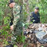 Ejército y Policía Nacional hallaron depósito ilegal con explosivos
