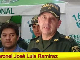 Coronel José Luis Ramírez, comandante Policía Casanare